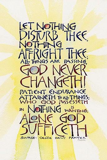 Let nothing disturb