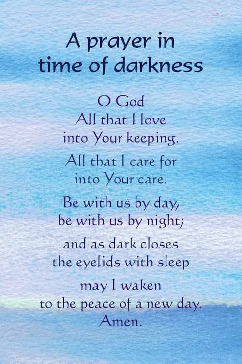 A Prayer in Time of Darkness postcard Northumbria Community